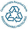 100% Recycled Paper Logo